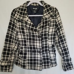 Jou Jou Lux Plaid Jacket Sz Sm
